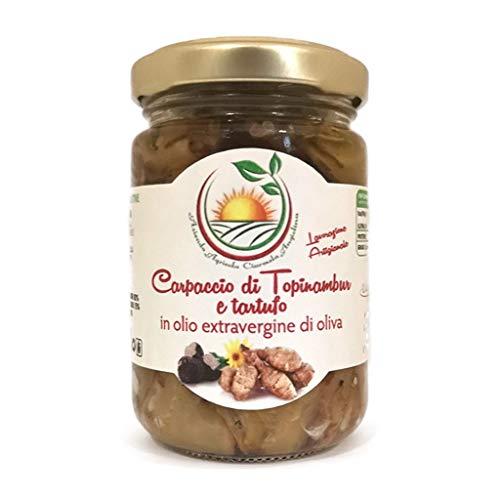 Carpaccio di topinambur e tartufo in olio extravergine di oliva 140g - lavorazione artigianale