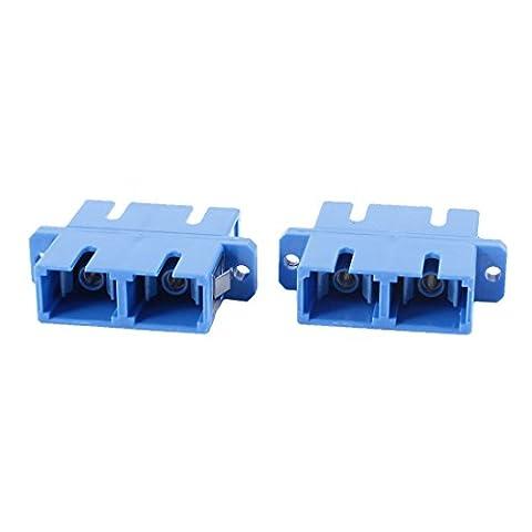 Lot de 2 fibre optique SC vers SC F Coupleur connecteur optique Duplex multimode