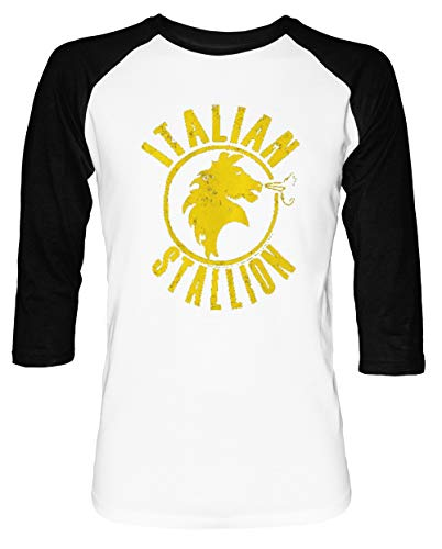 ren Damen Unisex Baseball T-Shirt Weiß Schwarz 2/3 Ärmel Women's Men's Unisex ()