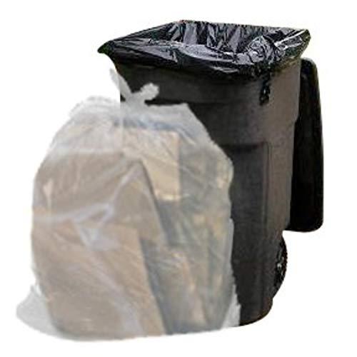Plasticplace Müllbeutel, transparent, ca. 65 l, 50 Stück