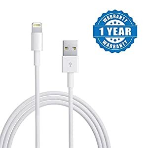 Captcha 8 Pin Lightning To USB Data Charging Cable for iOS Devices (White)
