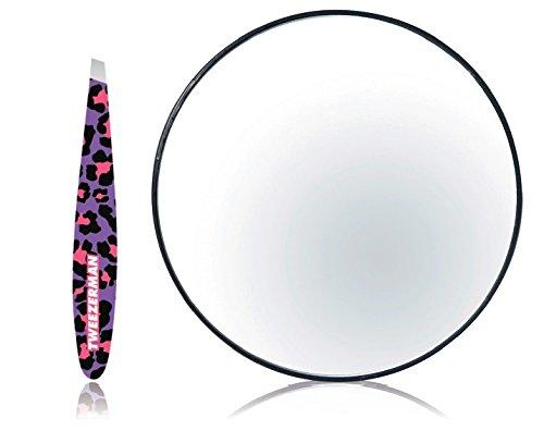 Tweezerman Fashion Leopard Mirror and Mini Slant Duo by Tweezerman