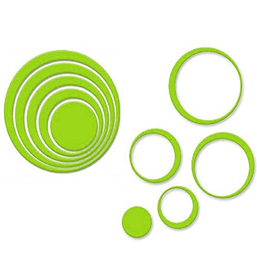 tefamore-indoors-decoration-circles-stereo-removable-3d-art-wall-stickers-green