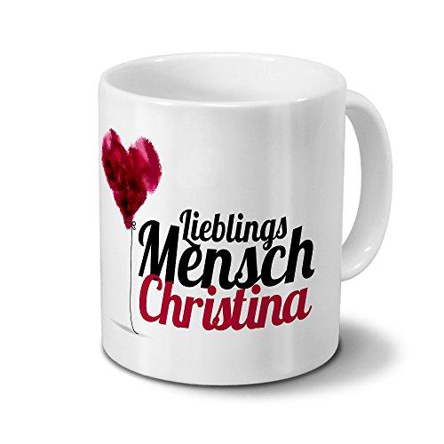 Tasse mit Namen Christina - Motiv