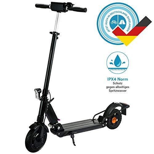 skandika ECO I E-Scooter mit Straßenzulassung, 350W Motor, 25 km Reichweite, 8 Zoll Reifen, Stoßgedämpft, Scheibenbremse, nur 11,5kg, Klappbar