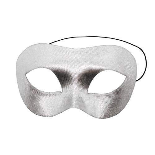 SKays Masken Maske Halloween Beleuchtung Scream Scary Costume Leuchtenden Draht Grimasse Leuchtmaske Fest Karneval Christmas Party Kostüm Horror (Silber) (Silber Maske Kostüm)