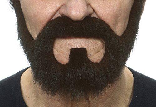 Mustaches Selbstklebende Neuheit On Bail Fälscher Bart Falsch Gesichtsbehaarung Kostümzubehör Dunkel Brown