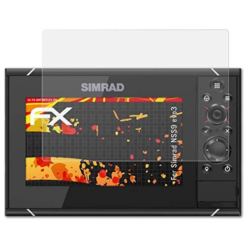 atFoliX Protector Película para Simrad NSS9 evo3 Lámina Protectora de Pantalla, Revestimiento antirreflejos HD FX Protección de Pantalla (3X)