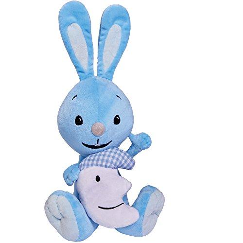 Kikaninchen Kuscheltier tolle Einschlafhilfe Plüschhase mit Leuchtmond im Arm ab 1 Jahr • Plüsch Hase Baby Spielzeug Stofftier Kika Kaninchen Mond Licht