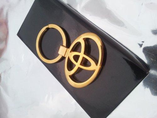 24K oro finito Luxury Toyota portachiavi design portachiavi portachiavi