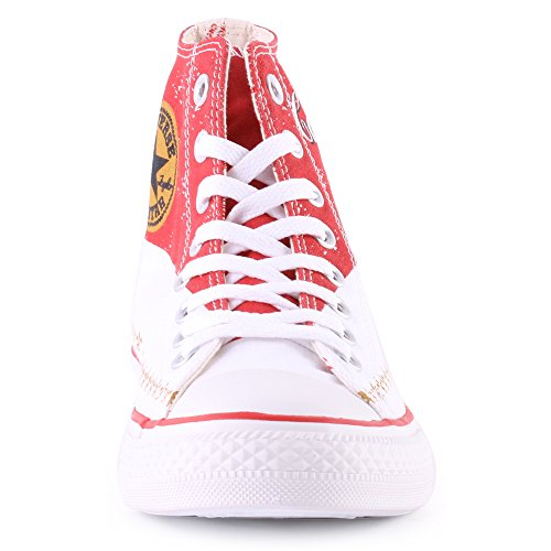 Converse Hightop Sneaker rot/weiß