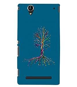PrintVisa Cute Cartoon Tree 3D Hard Polycarbonate Designer Back Case Cover for Sony Xperia T2 Ultra