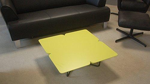 Möbel Akut Couchtisch ROLF Benz Freistil 195 Design Kleeblatt 79 x 79 cm avocadogrün Gestell schwarz