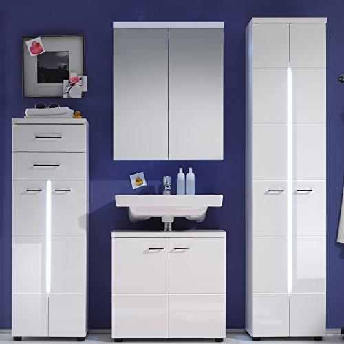 Trendteam Badezimmerspiegelschrank Weiß - 3
