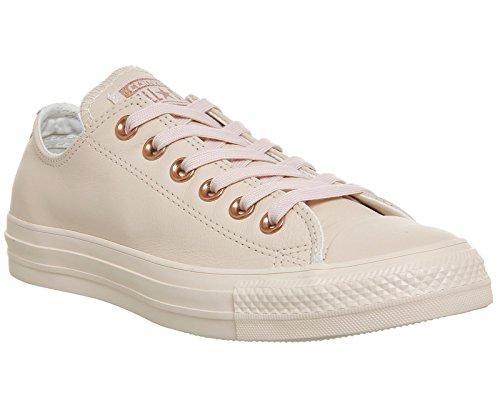 Converse Chuck Taylor Core Lea Ox, Sneaker Unisex adulto Pastel Rose Tan Rose Gold Exclusive