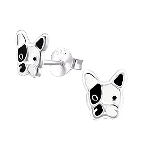 Sterling Silver Dog Earrings - Exclusive to Katy Craig Ltd