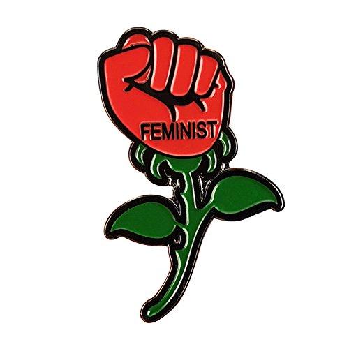 Gudeke Feminista Broche Mujeres Rose Insignia Chica Poder Pin