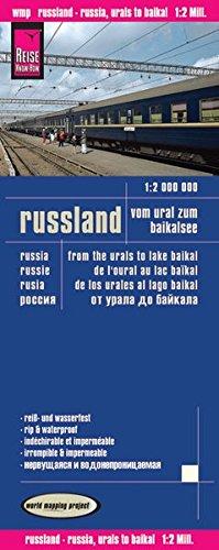 Rusia: De los Urales al Baikal, mapa impermeable de carreteras. Escala 1:2.000.000 impermeable. Reise Know-How. (12m) por VV.AA.