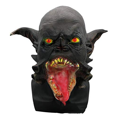 Circlefly Halloween Horror Alien Latex Maske Haunted Haus Skelett Dämon Goblin Black Monster Maske (Skelette Für Halloween Tierische)