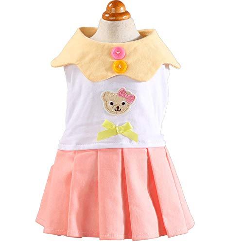 ndet-Shirthaustierkleidunghundekleidungwestent-Shirthundekleidungshemd Hundekostüm Welpe Frühling Sommer Sommer Tutu Bärchen Lady@Pink_XL ()