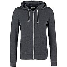 Pier One Herren Sweater Jacke aus 60% Baumwolle • Sweatjacke mit Kapuze •  Zip Hoodie 4cacc6bfa5