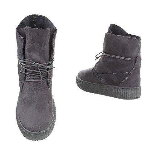 Piatto Scarpe High Design Sneaker da Ital Sneakers Grigio Donna xq4aXx1