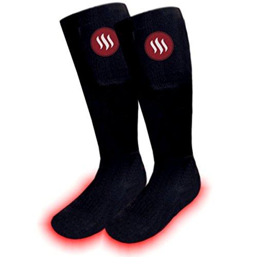Glovii riscaldata da batteria esterna abbigliamento tecnico thermoactive calze da sci con telecomando, dimensioni: m, l (35-40)