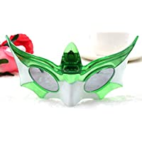 Yukun Máscara Control de Voz de Halloween Luminous Mask Fluorescente Led Luminous Mask Night Dress Masquerade Máscara de Voz. (5 PC), Verde