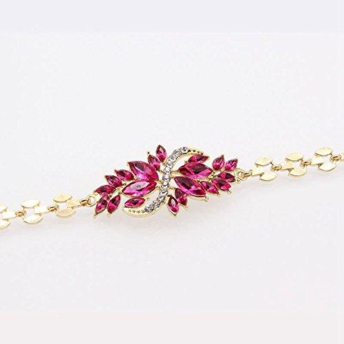 PinzhiFrauen-Art- und Weiseschmucksache-Gold überzogene Blumen-Steine ??Armband-Armbänder (Österreichische Kostüm)