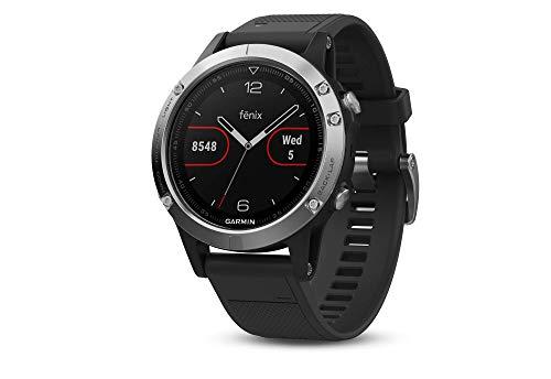 Garmin Fenix 5 Plata con Banda Negra 47 mm Premium Multisport GPS...