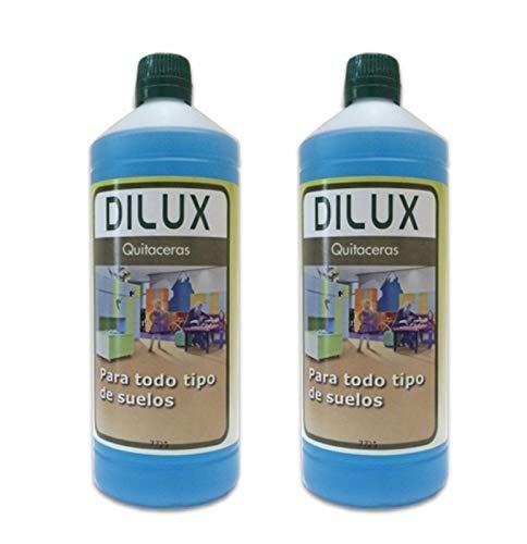 Dilux - PACK 2 QUITACERAS para suelos encerados 1 L