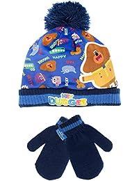 Hey Duggee - Conjunto de gorro y guantes para niño