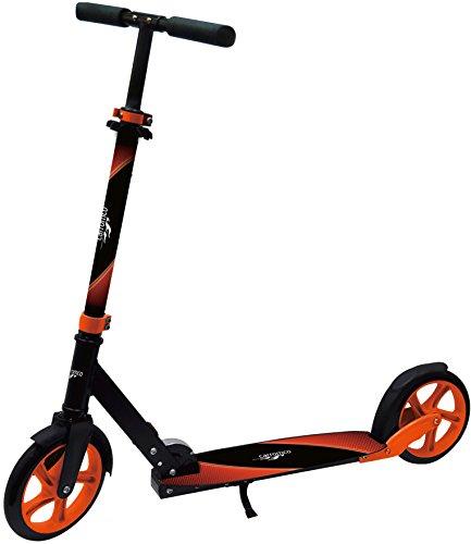 Carromco Unisex– Kinder Scooter XT-200, rot Big Wheel, Aufgeklappt: Länge: 95,5 cm, Breite: 35 cm, Höhe: 101 cm