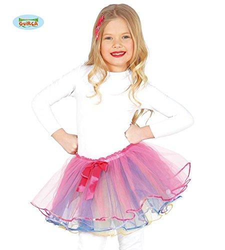 558 - Tutu mit rosaroter Masche, Kinder (Ballett Tänzerin Halloween Kostüm)
