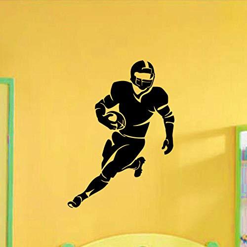Qvzxn Player Running Pattern Spezielle Wandtattoos Home Wohnzimmer Cool Hübsches Dekor Vinyl Wandbild Mann Rugby Wallpaper 42X60Cm -
