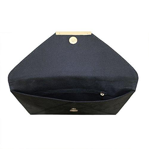 Gold mit Clutch Strap Damen Smith Anna Umschlag Metallkette Nero Abendtasche qwICXZT