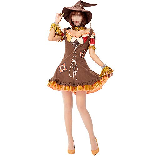 Halloween kostüm, Halloween Cosplay kostüm Halloween Cosplay Horror Kostüm,Karneval Silent Scarecrow Verfluchte Puppe Cosplay Stage - Scarecrow Cosplay Kostüm