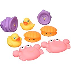 Playgro 0109865 Bathtime Animal 8 PK- Girl Version, Multicolor