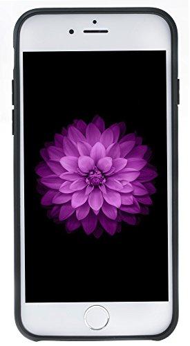 """Solo Pelle Iphone 8 / 7 Case Lederhülle Ledertasche Backcover """" Flex CC """" aus echtem Wildleder in Schwarz mit Kartenfach Schwarz"""