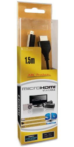 ABC Products Micro D HD HDMI Cable Cord Lead CB-HD1 For Olympus Camedia / Creator / Mju / Stylus / Tough / Traveller Suits Models 5010 7040 9010 E-PL3 Pen Mini E-PM1 SP-600UZ SP-610UZ SP-620UZ SP-720UZ SP-800UZ SP-810UZ SZ-10 SZ-11 SZ-12 SZ-14 SZ-20 SZ-30