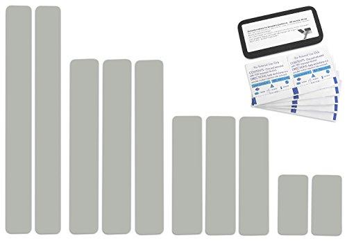 Preisvergleich Produktbild Selbstklebende Planenreparatur Tapes / 10 teilig / Easy Patch Comfort 50mm / Für Zelte,  Planen uvm. / Hellgrau / Achatgrau RAL 7038
