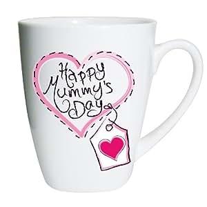 Heart Stitch Happy Mummy's Day Small Latte Mug Keepsake Novelty Mother's Day Present Gift Coffee Tea