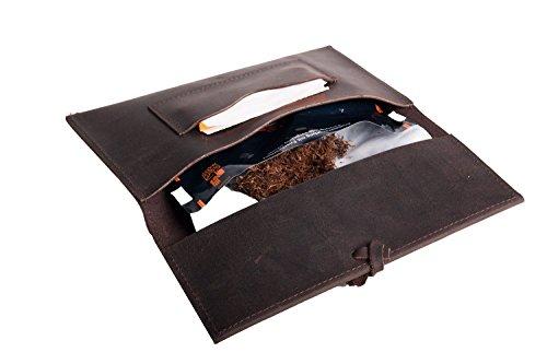 Tasca Con Cerniera Borsa Da Tabacco Albero Di Tabacco Pelle Bovina Custodia In Vero Cuoio Design Tedesco (motivo Marrone 3) Motivo Marrone 9