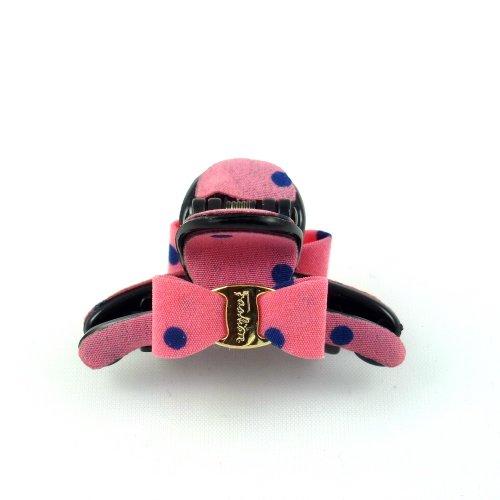 rougecaramel - Accessoires cheveux - Pince cheveux mini pince crabe à pois - rose