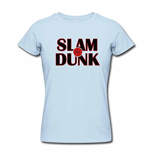 Simple design-SLAM DUNK Cotton teal T-shirt for Women-S