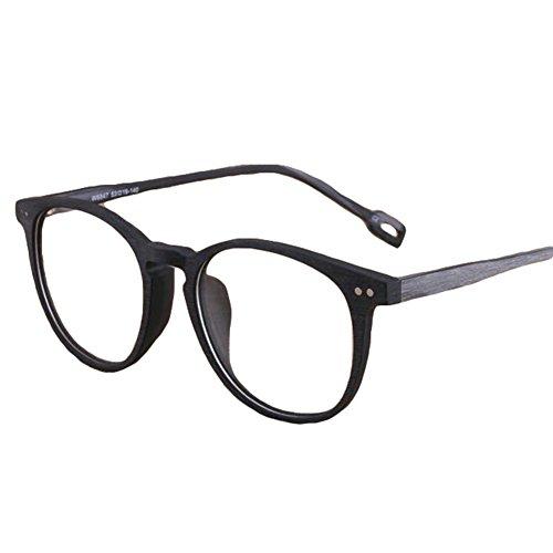 Hibote Männer Frauen Brille - Klare Linse Brillengestell - Holzbrillen 122916