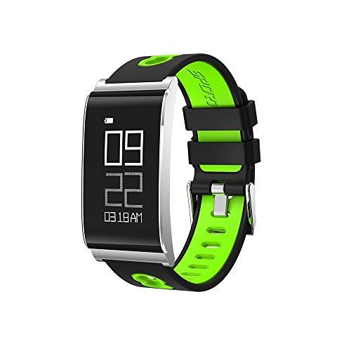 Lixada Sportuhr Armband Fitness Gesundheit Schlaftätigkeit Tracker mit Blutdruck Herzfrequenz-Monitor für iPhone / Android IP67 Wasserdicht