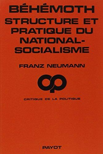 Béhémoth, structure et pratique du national-socialisme (1933-1944)
