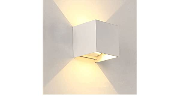 Futur print® 7 w wandleuchte cube led: amazon.de: elektronik