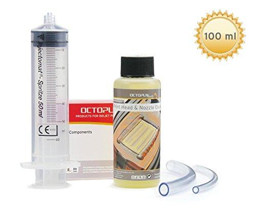 Preisvergleich Produktbild 100 ml Düsenreiniger, Druckkopfreiniger für Canon Pixma Druckköpfe mit Schlauchadaptern (100 ml)